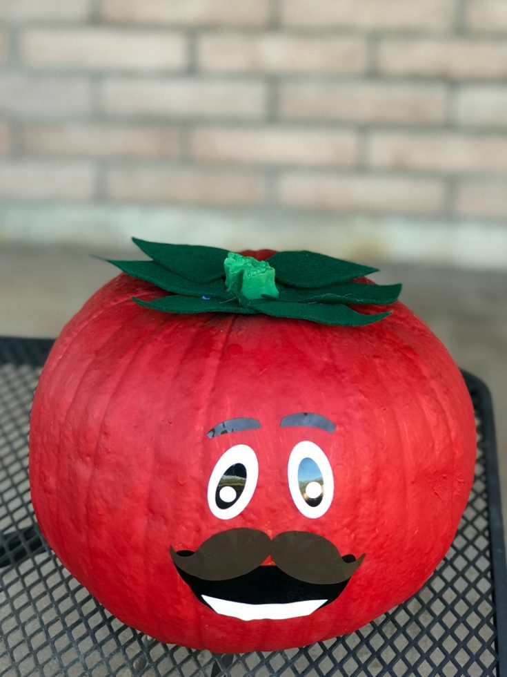 DIY Tomatohead Pumpkin for Fortnite Fans!