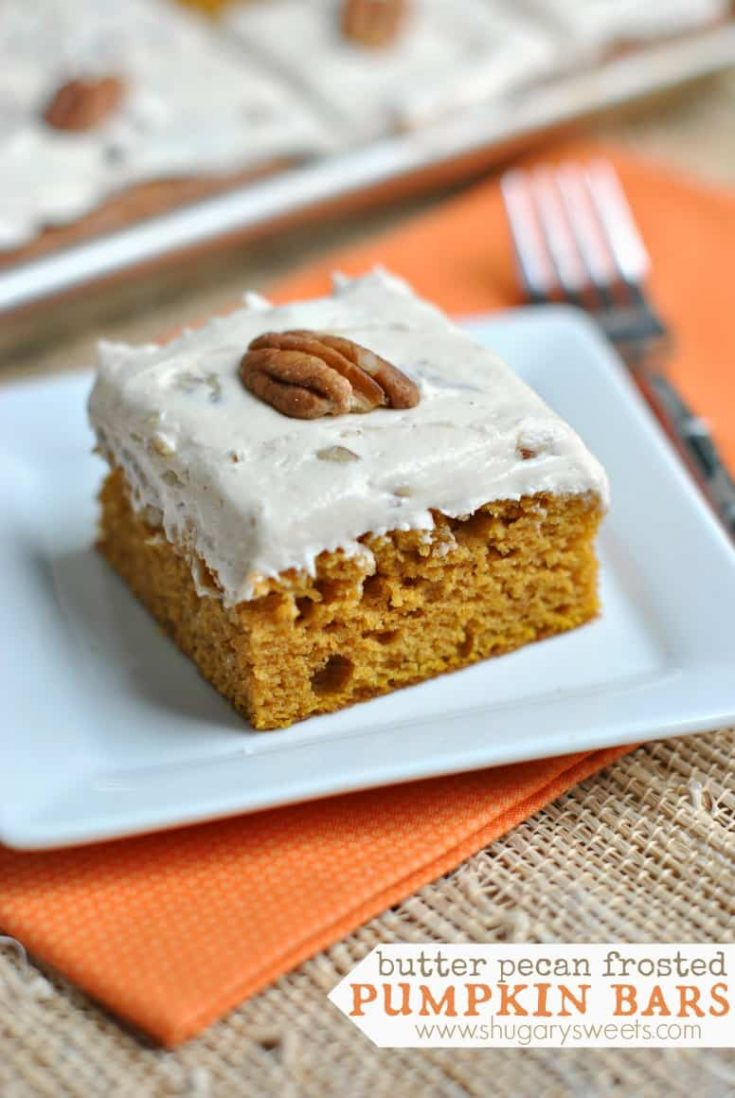 Butter Pecan Frosted Pumpkin Bars