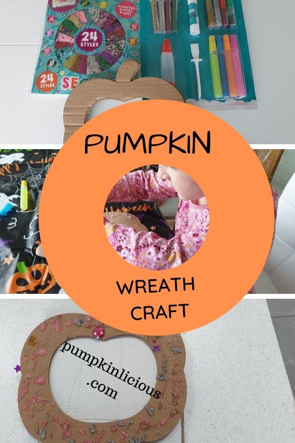 EASY PUMPKIN WREATH CRAFT