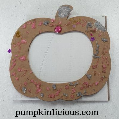 kids pumpkin wreath craft
