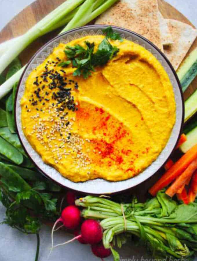 Highly Addictive Roasted Pumpkin Hummus