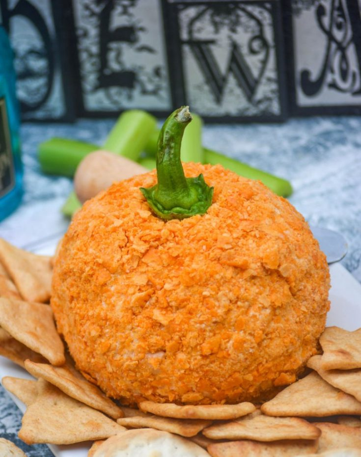 Pumpkin Shaped Tex Mex Cheese Ball