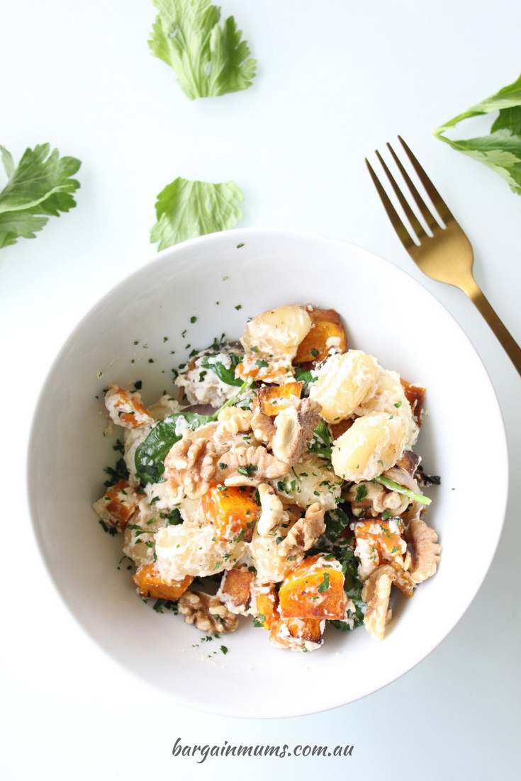 Ricotta, Pumpkin and Walnut Pan Fried Gnocchi