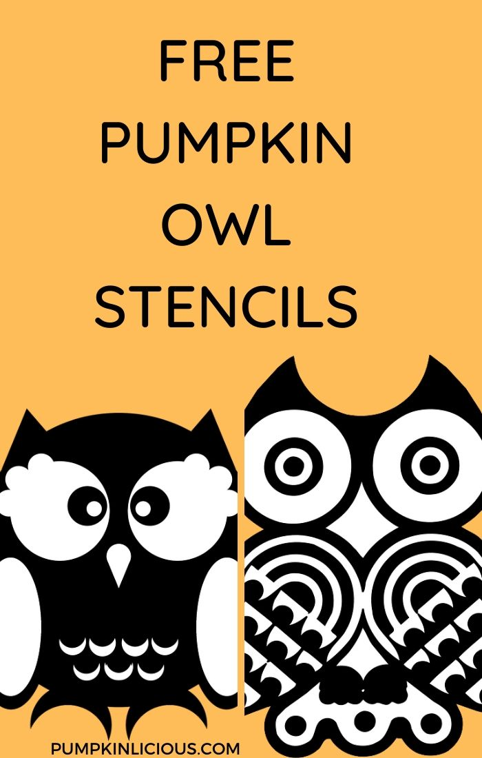 Pumpkin Carving Owl Templates