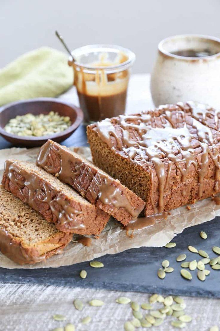 Gluten-Free Pumpkin Bread with Chai Caramel Glaze