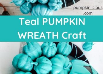 teal pumpkin wreath diy