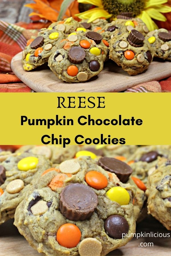 Reese Pumpkin Chocolate Chip Cookies Recipe