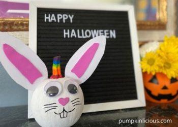 Painted Unicorn Bunny Pumpkin