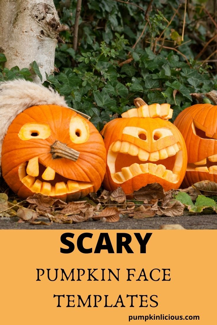 Scary Pumpkin Face Carvings