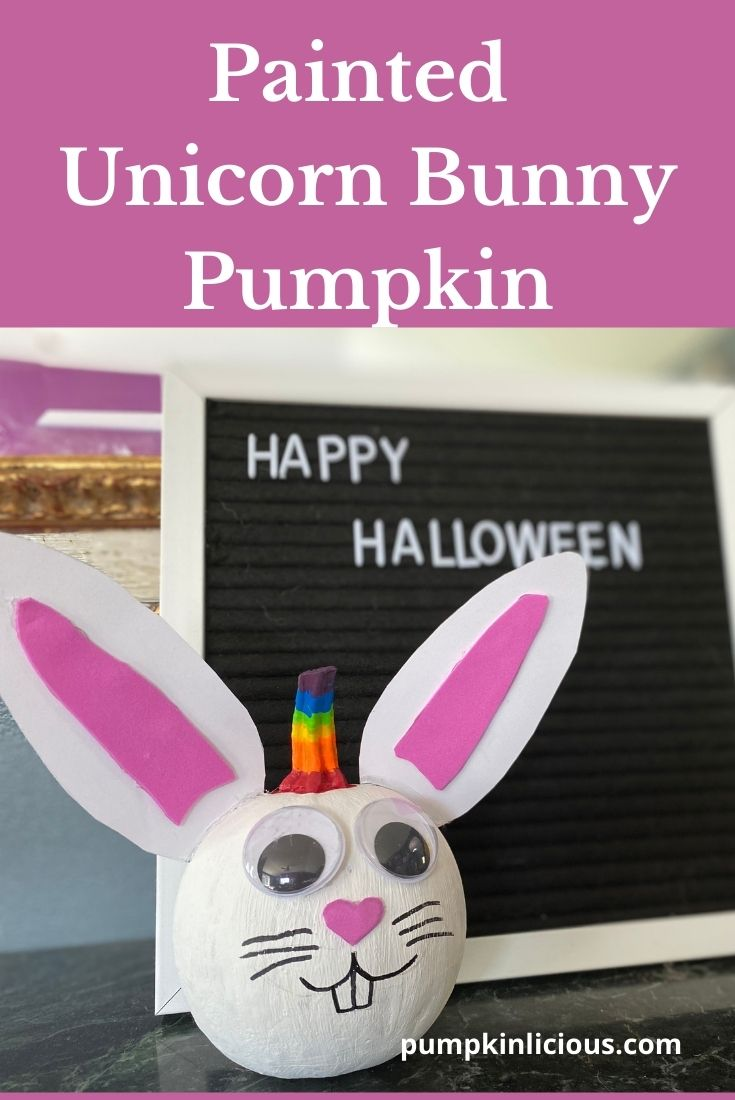 Unicorn Bunny Pumpkin No Carve