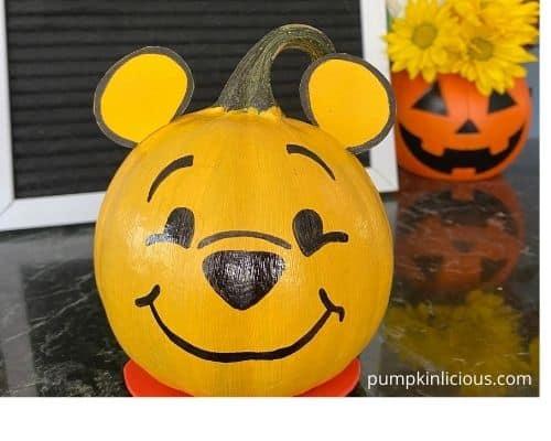 Winnie the Pooh Pumpkin Painting