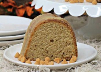 pumpkin bundt cake with butterscotch