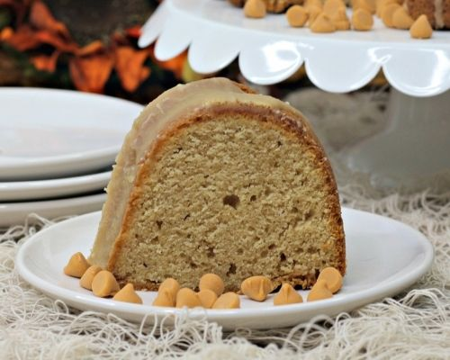 pumpkin bundt cake with butterscotch