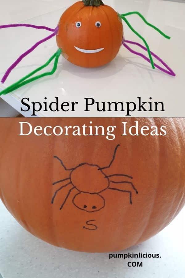 spider pumpkin decorating ideas