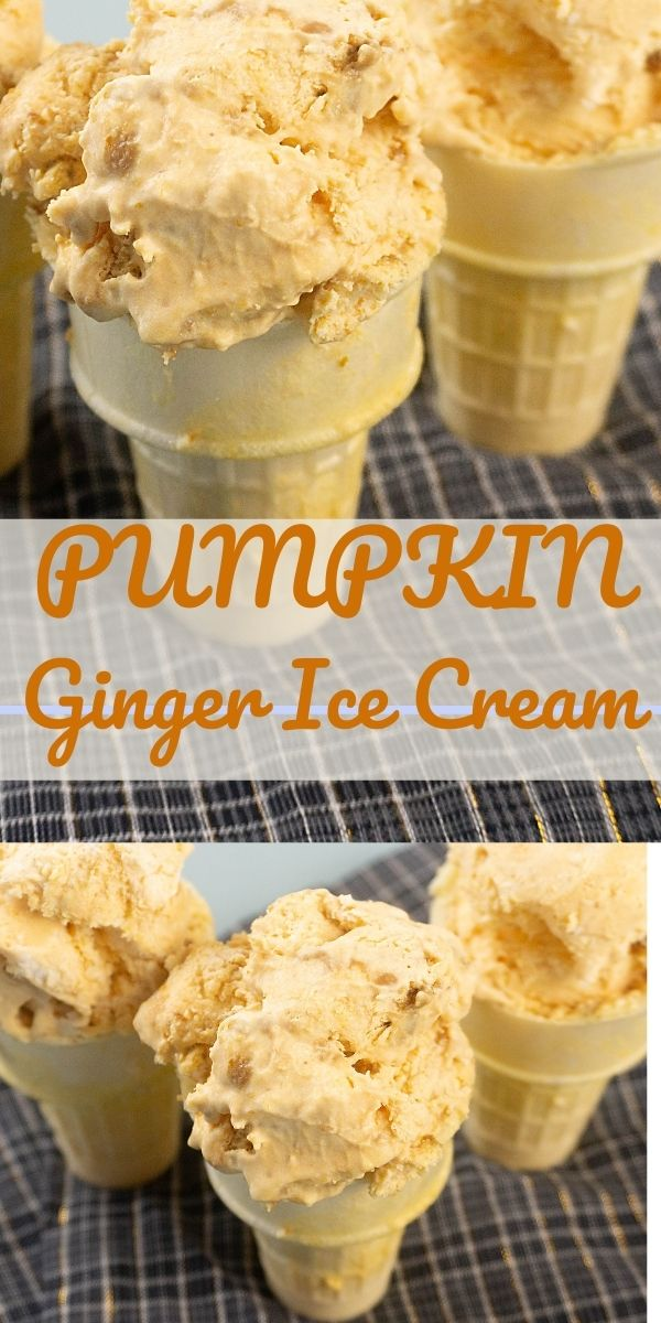 Pumpkin Ginger Ice Cream with Ginger Snap Cookies