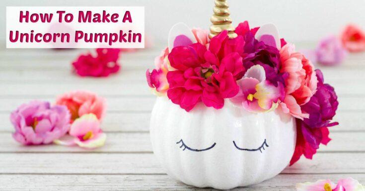 Adorable No Carve Unicorn Pumpkin