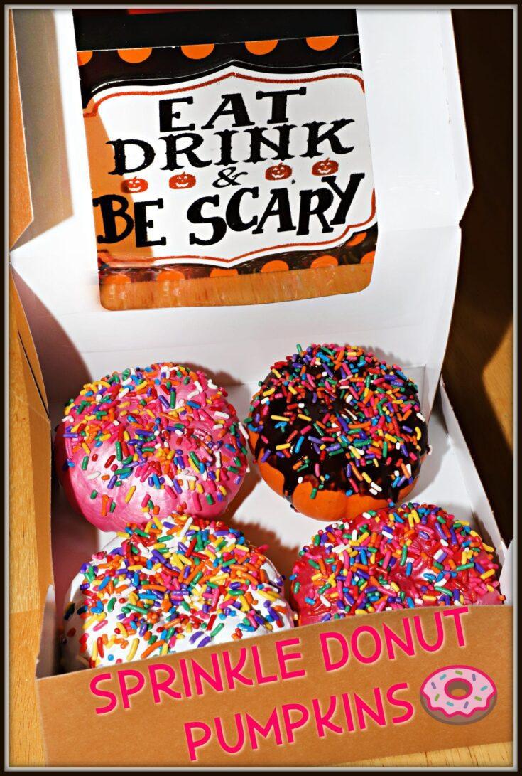 Painted Sprinkle Donut Pumpkins