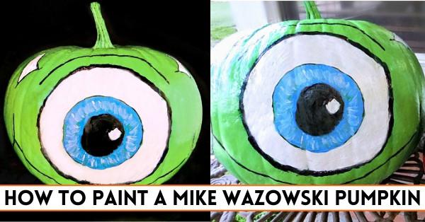 How to Make a Mike Wazowski Pumpkin for Halloween